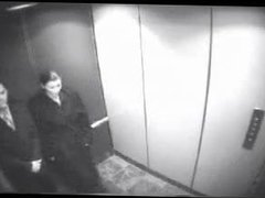 blowjob and kiss in elevator