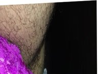 Purple lace panties with panty pads