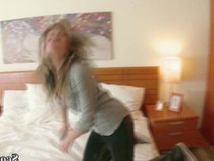 BRO Touch YOUNG STEP-SISTER Lucy and seduce to First ANAL