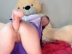 Teen se masturbe avec sont gode