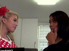 Asian Latina Cristi Ann Gets Her Good Eaten By Jenna Foxx!