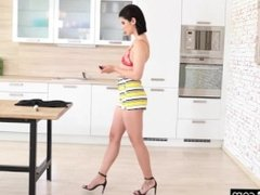 Lady Dee fucks the room service waiter and her boyfriend in a naughty DP