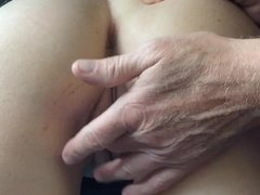 Wife pussy play and ass lick with a cowgirl cum ending