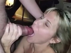 Mature milf loves to swallow her husband's cum