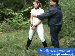 Outdoor Blowjob Fucking Bondage Sex With Ridind Boots