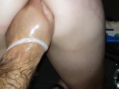 Slave getting fisted, pumped, deepthroated and anally abused