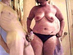 cum for big boob bbw in black panties