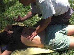 Public breast massage