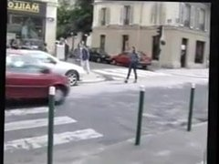 Outdoor Flashing In Paris strip naked in public