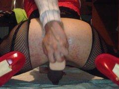 White sissy stockings body net hardcore fuck