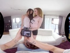 SexBabesVR - 180 VR Porn - Threesome Fantasy with Ashely Ocean and Emma Fan