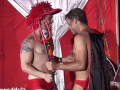 Carnival boys suck and fuck each other at the after party