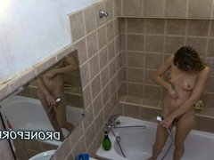 Long Hair Adela, Czech teen in the shower