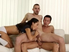 College bisexual threesome with Shrima Malati