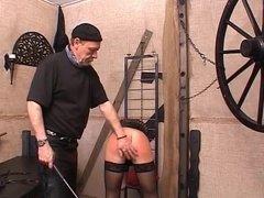 Blonde slut enjoys getting punished by her master