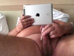 Old Guy Masturbating In Bed