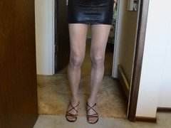 Tight Micro Mini Skirt and Nude RT Pantyhose