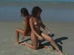 naked girls beach double yoga