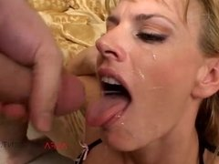 Interracial Threesome with mature