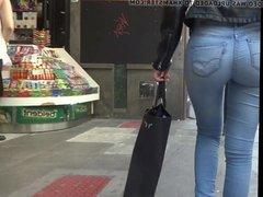 ass candids jeans