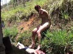 Femdom Ladies trample slaves