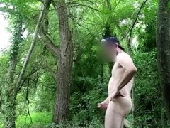 Exhibition and blowjob in the forest 1