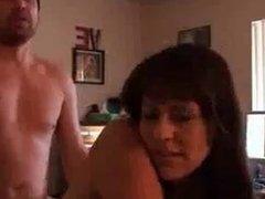 Gorgeous Busty Amateur nude Stepmom fucks Stepson POV