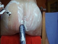 Shaving and filling my ass