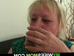Horny wifes mom seduces him