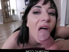 Stepmom catches stepson jacking off to her