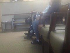 Mature Ebony Toe Wiggling in Nike Shoes