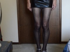 Balls Dangling in Mini Skirt Need Cock to Fuck Me