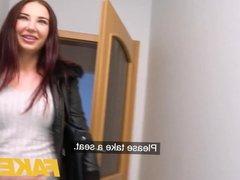 Fake Agent Hot masturbating redhead model craves agent