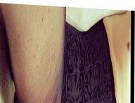 Crossdresser Marie cum in black crotchless pantyhose