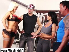 Nikita Von James joins a workout orgy