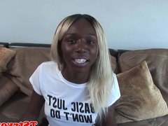Casting nubian ts beauty strokes her dong