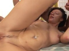 mature fucked by 3 studs