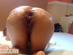 Anal fisting and fire extinguisher fucked MILF