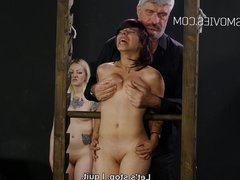 Cruel boob torture for the slave girls