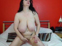 Mature mother with HUGE natural tits