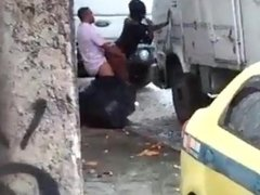 HOOKER GETTING FUCKED AT TRUCK STOP