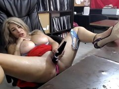 MILF Squirts in Office
