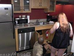 Maintenance Man Creampies Cheating Wife