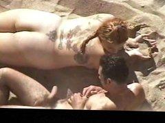 Estrangeiro - Hidden Cam Couple, that big butt fuck in beach