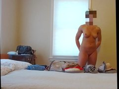 Spied while changing, hidden cam