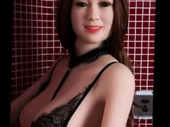 Sexy love doll waiting for me in bathroom