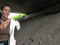 Public Agent Darcia Lee fucked under a bridge