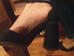 Hot girl feet in high heels