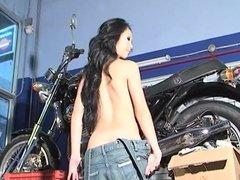 Lin motorcycle strip