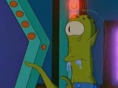 Alien fudendo marge dos simpson